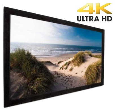 Projecta Fixed Frame Screen 151 X 256 cm (16:9) with UHD 4K Fabric 0.9 Gain (PRO-FF-256-4K).