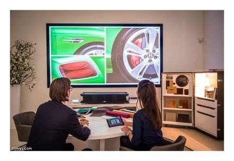 Sony's Vision Presenter creates 'immersive experience' at Bentley showroom