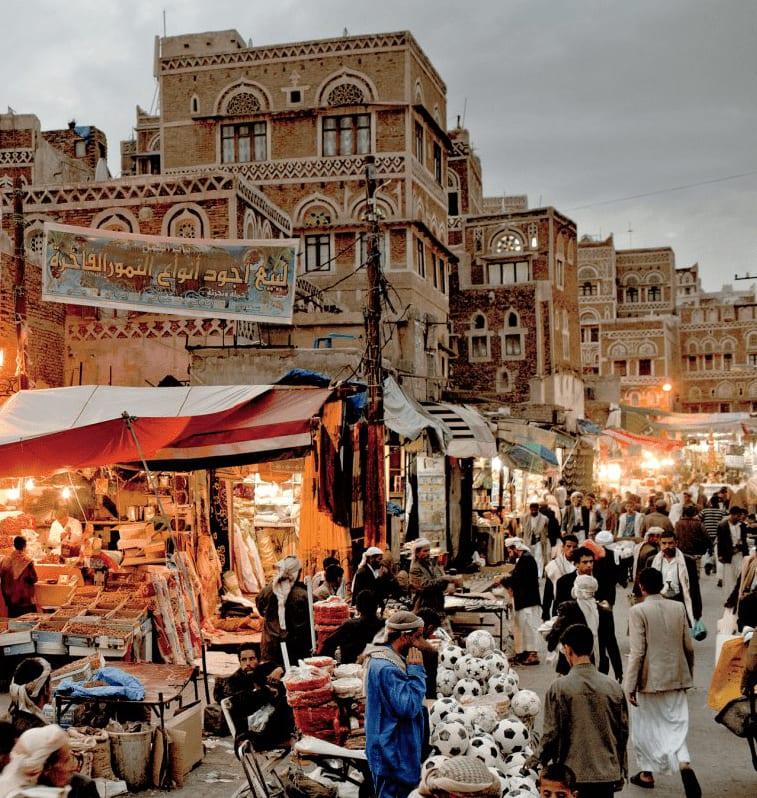A busy market in Yemen