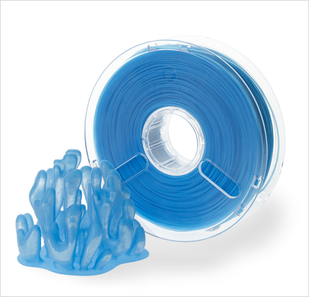Transparent PLA filament önizlemesi