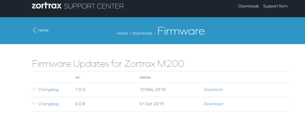 zortrax firmware