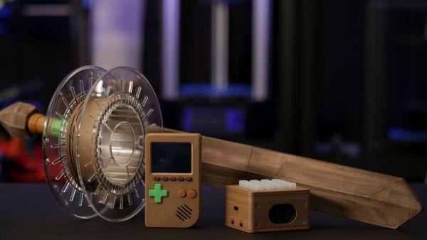 Bamboo wood pla filament