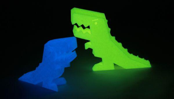 Glow in the dark PLA filament önizlemesi