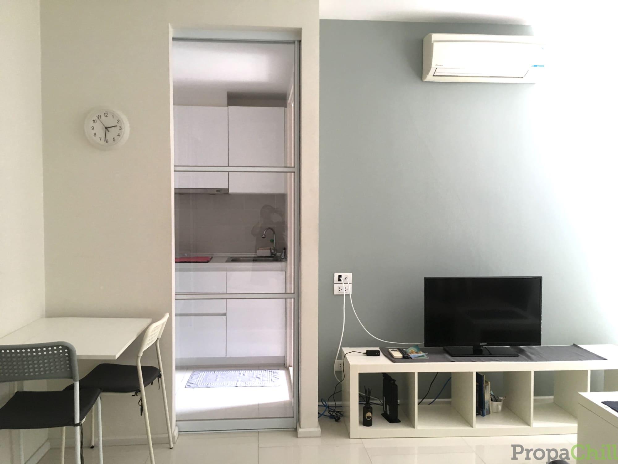 [For Rent] ให้เช่า Sense Phaholyothin *ใกล้ BTS สะพานควาย* 1 ห้องนอน 30 ตร.ม. ชั้น 19 ตกแต่ง+เครื่องใช้ไฟฟ้าครบ ห้องสวย วิวดี หิ้วกระเป๋าเข้าอยู่ได้เลย (1 BR 30 SQM fully furnished)