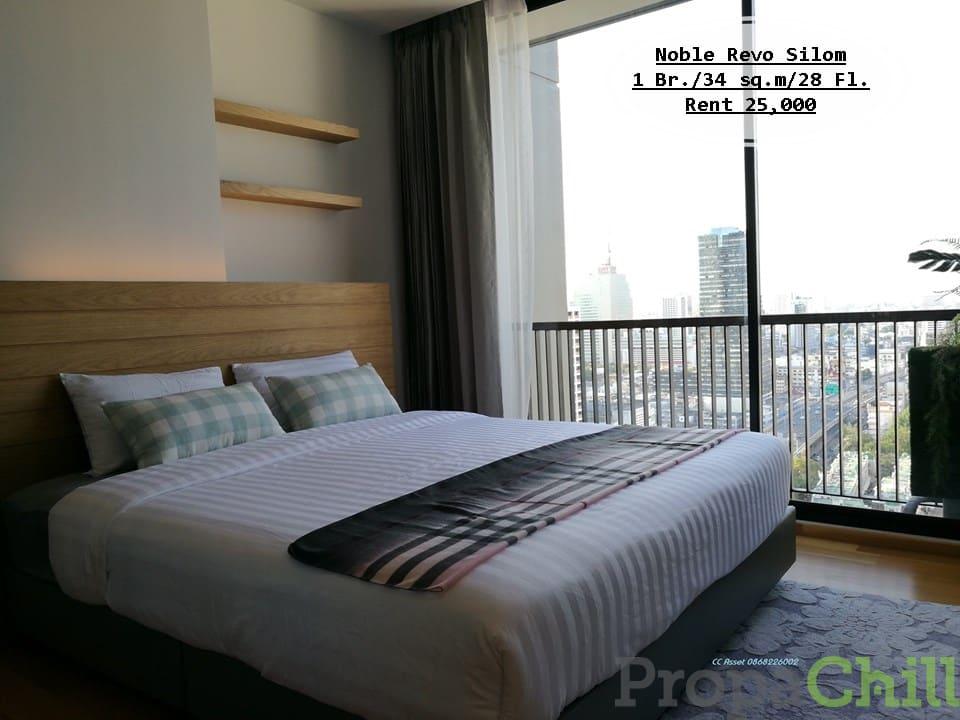 เช่า-Noble Revo Silom/ 1 นอน / 34 ตรม./ชั้น28 ใกล้ BTS สุรศักดิ์ เช่า 25,000 บ.