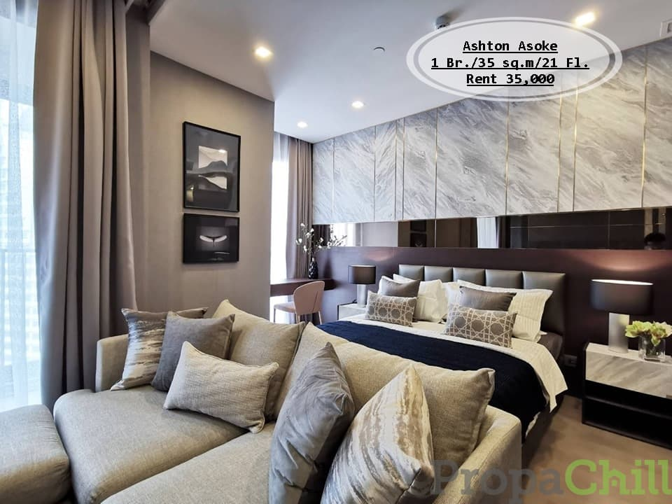 เช่า- Ashton Asoke / 1 นอน/35 ตรม./ชั้น 21 /ตกแต่งสวยพร้อมอยู่ เช่า 35,000 บ.