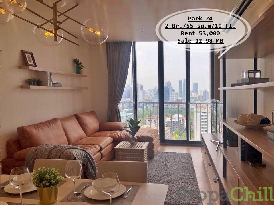 เช่า&ขาย-Park 24 / 2 นอน / 55 ตรม./ชั้น 19/ใกล้ BTS พร้อมพงษ์ เช่า 53,000 บ. /ขาย 12.98 ล้าน