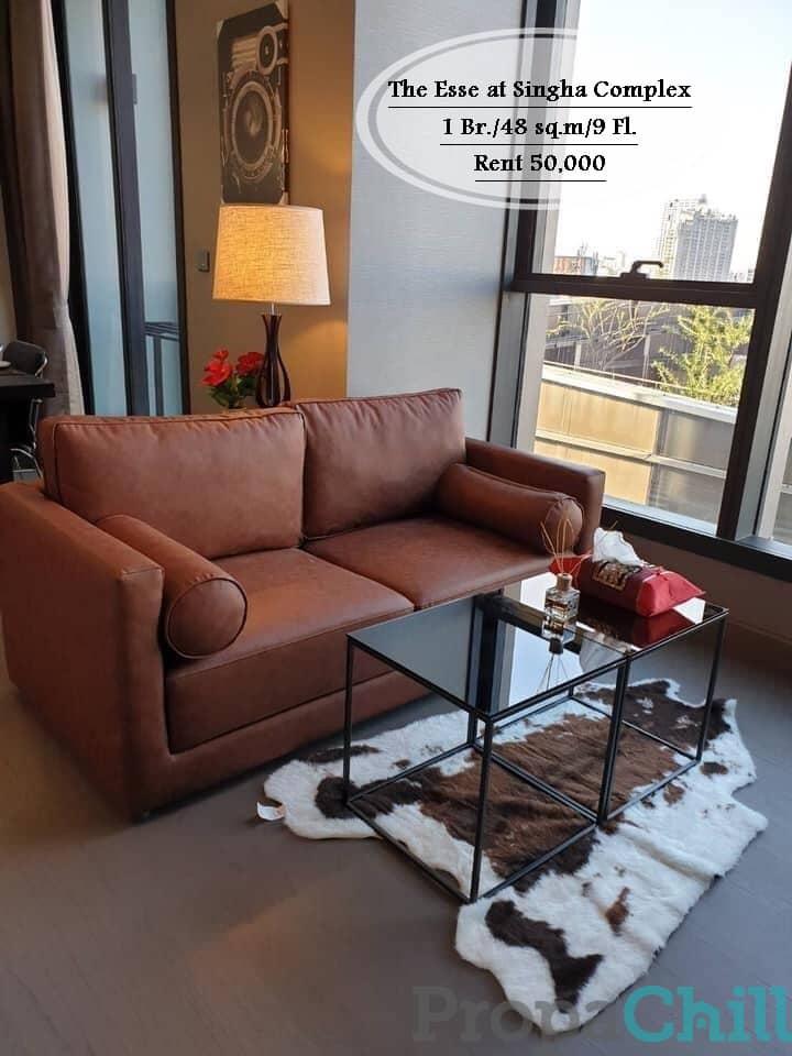 เช่า - The Esse at Singha Complex /48 ตร.ม/1 นอน/ชั้น 9 ใกล้ MRT เพชรบุรี เช่า 50,000
