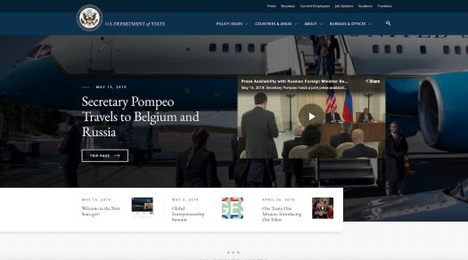 U.S. Department of State Launches New WordPress Website