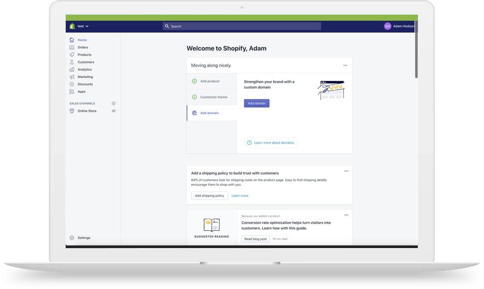 Shopify website platform