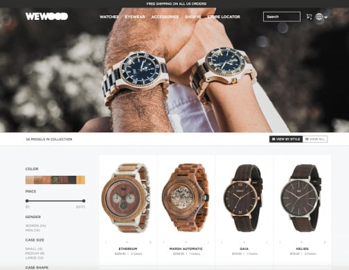WeWOOD Magento website
