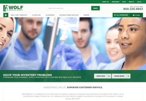 Wolf Medical Magento website