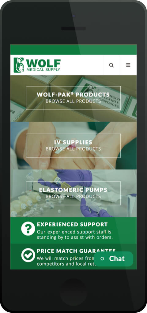 Magento E-Commerce Website for Wolf Medical Supply