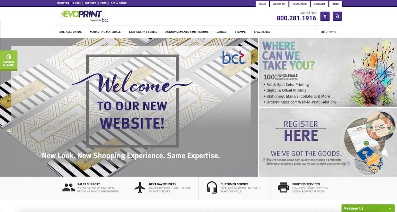 Magento E-Commerce Website Design Project For EvoPrint