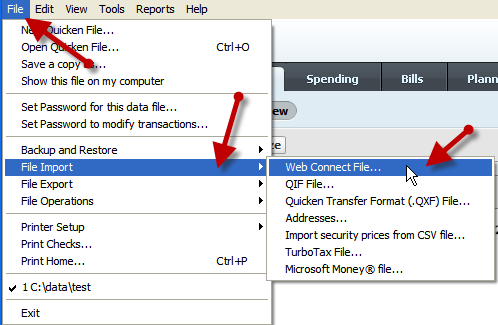 quicken-import-web-connect-qfx-file