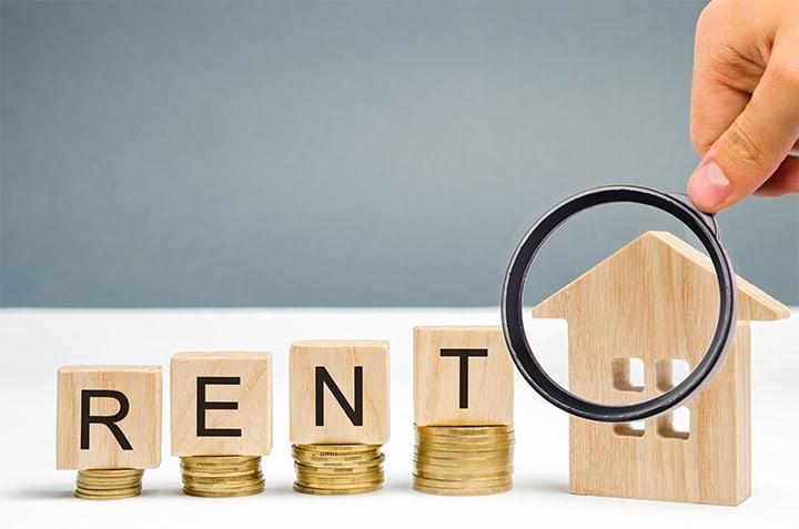 Rental price concept