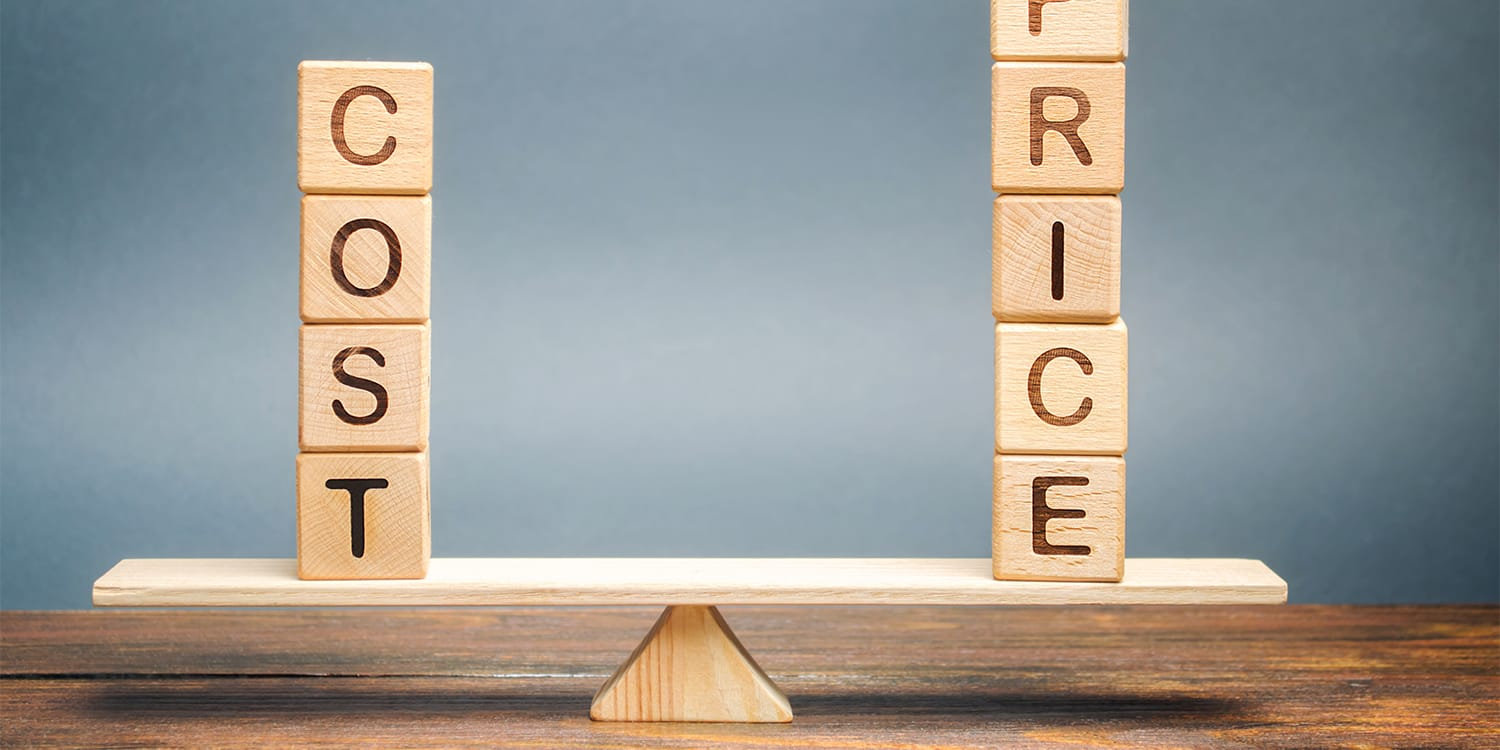 Cost and price blocks on a level