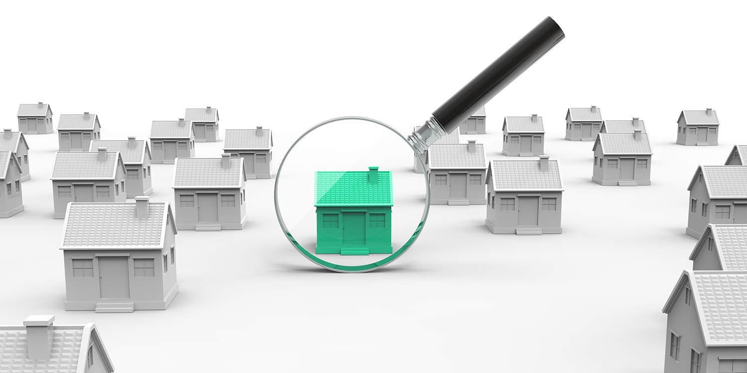 searching for the perfect home - real estate concept