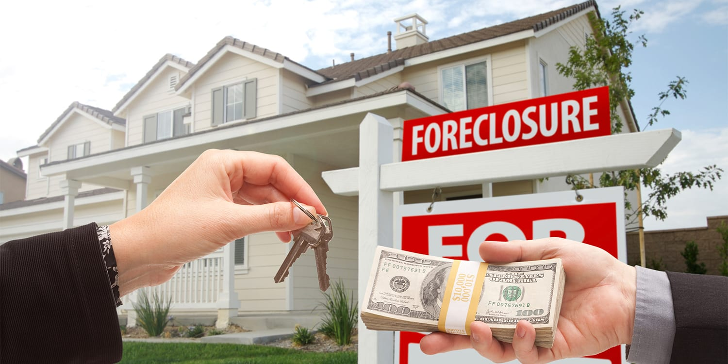 Cash buyer purchasing a foreclosed home.