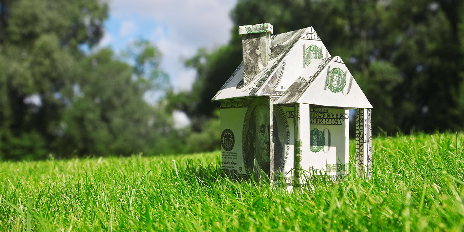 House made of money - cash home seller concept
