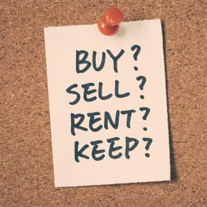 Real estate investor not deciding between renting and flipping.