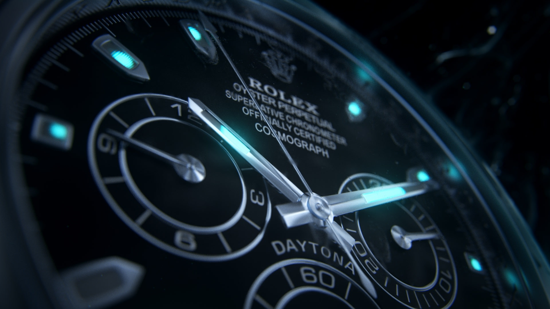 Rolex promotional 3d visual