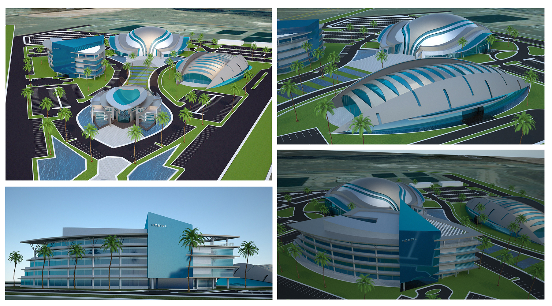 Zayed sports complex protenders for Sport swimming pool design