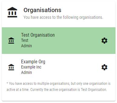 Organisation Access Multiple