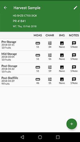 Mobile App - Harvest Evaluations