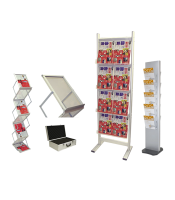 Exhibition Literature Stand : Literature racks portable for exhibitions and showrooms