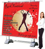outdoor giant banner stands