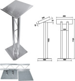 Duo lectern in truss, 50mm tube.