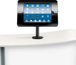 Ipad counter holder in black finish.