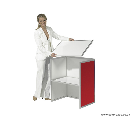 Erecting the folding counters