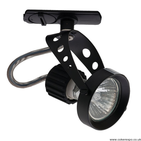 Clanzia track lighting fixture in black.