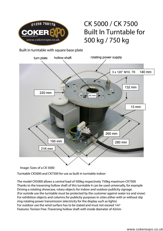 Built In turntable drive motor