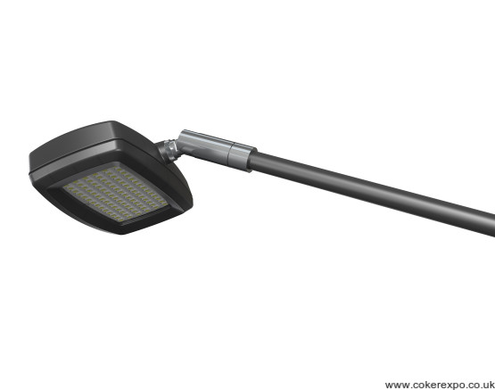 Led long arm exhibition flood light in black finish