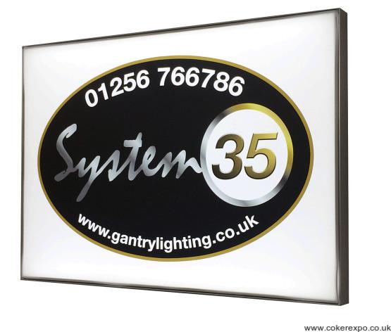 Slimline Led light box illuminated