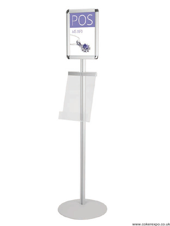 A4 info display sign point with literature holder