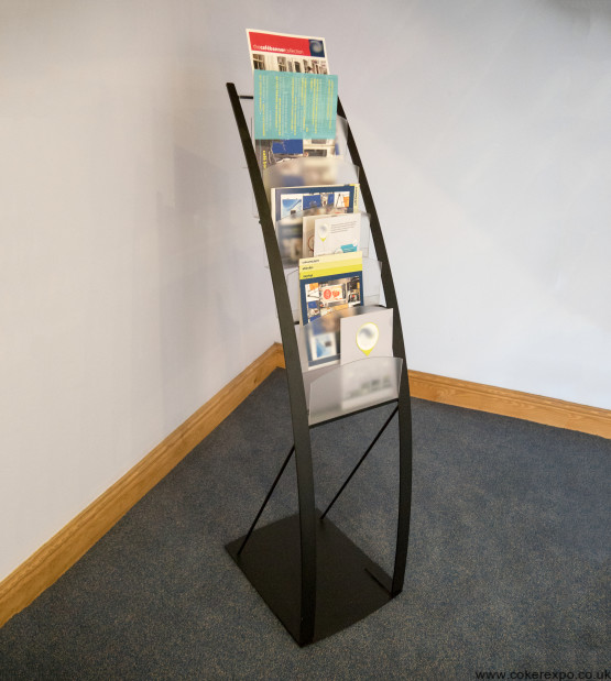 Sixback portable literature holder for events