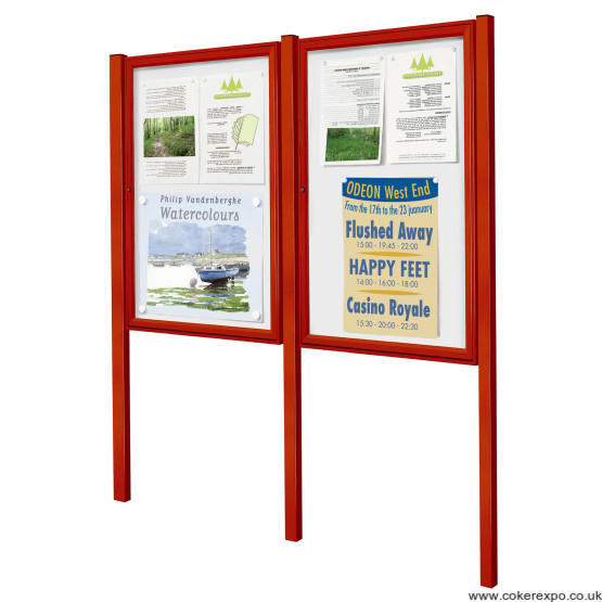 Painted display notice boards
