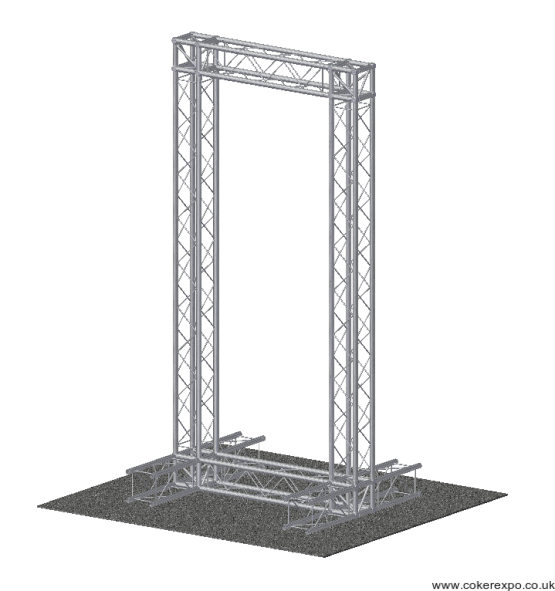 System 35 Quad free standing banner display frame