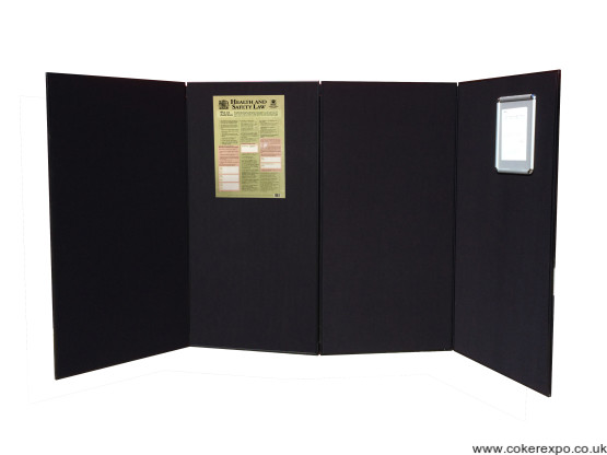 Large panel folding display stands
