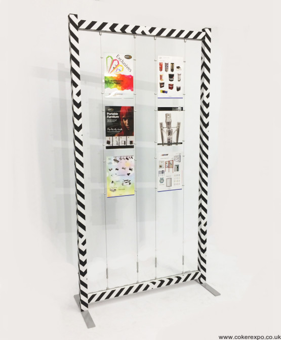 Free standing display framework with cable display set up