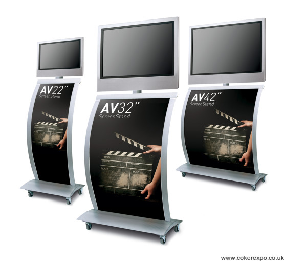 Range of Lcd exhibition display stands.