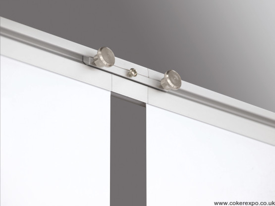 Linking roller banner system