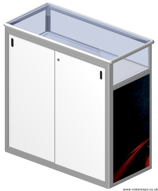 Portable counter locking doors