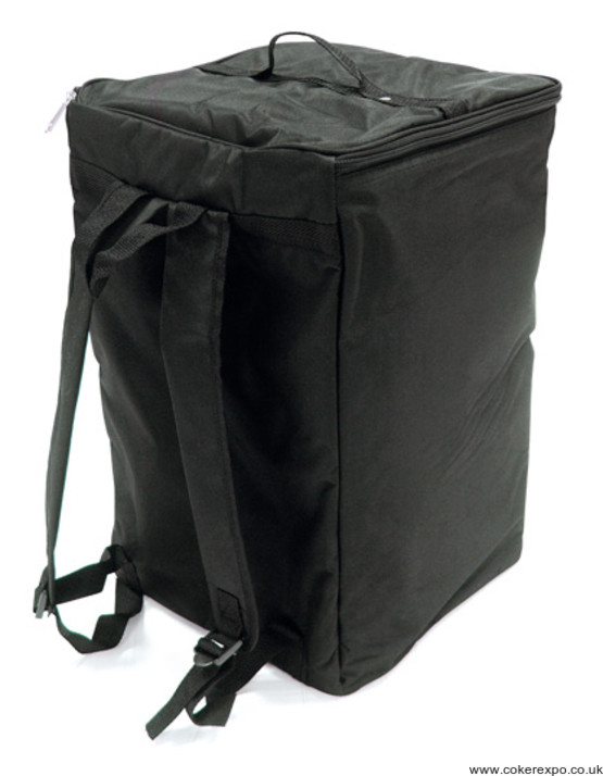 Literature rack bag in canvas, black finish
