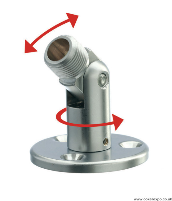Multi face screw fitting for cable displays