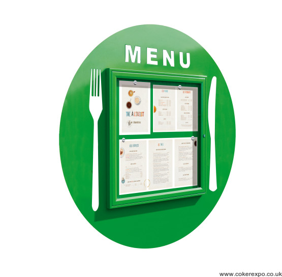 Locking menu display cases